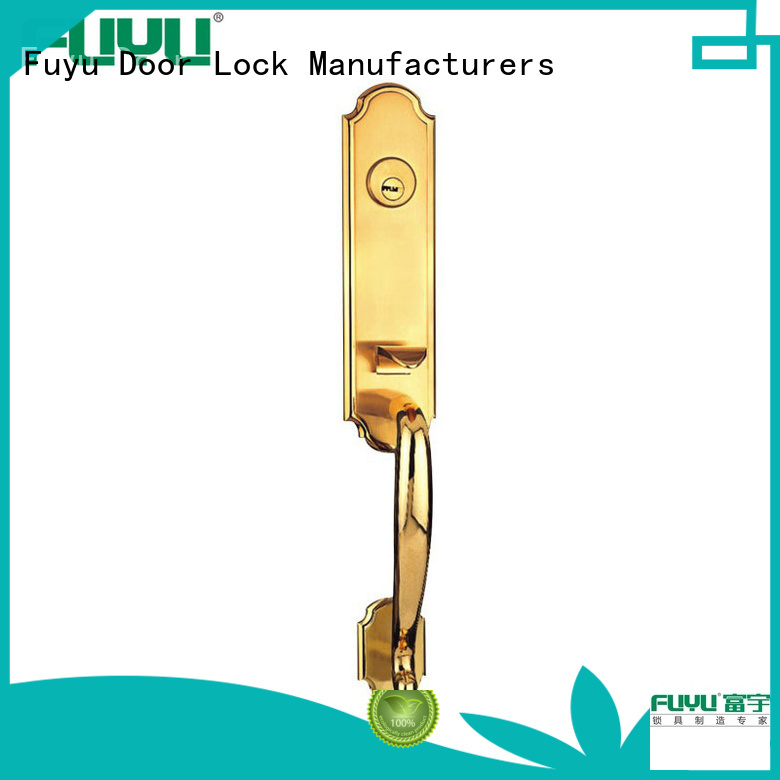 FUYU handle door lock supplier for mall