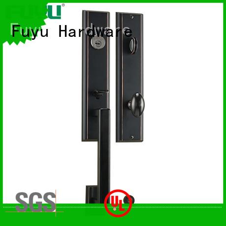 luxury zinc alloy door lock for timber door locks for mall FUYU