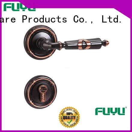 FUYU custom lever on rose door handle manufacturer for home
