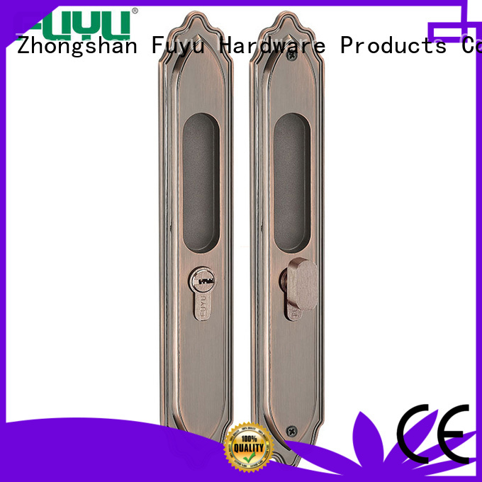 FUYU sliding door handle with lock manufacturer for mall
