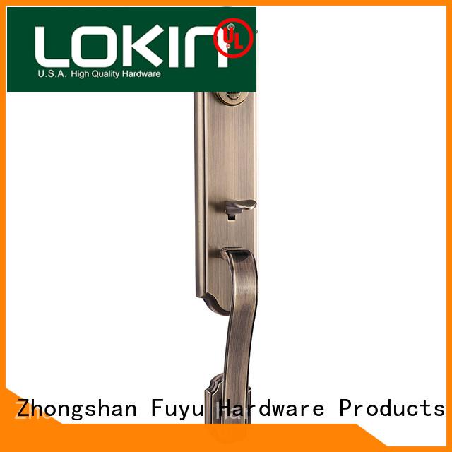 FUYU sale zinc alloy handle door lock on sale for mall