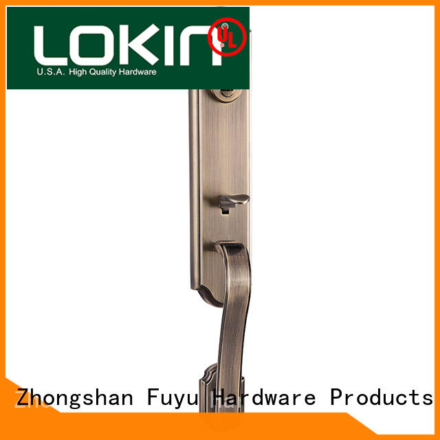 FUYU sale zinc alloy handle door lock on sale for mall