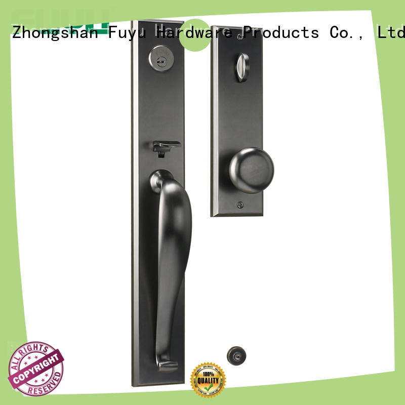 FUYU door zinc alloy door lock for wooden door with latch for entry door