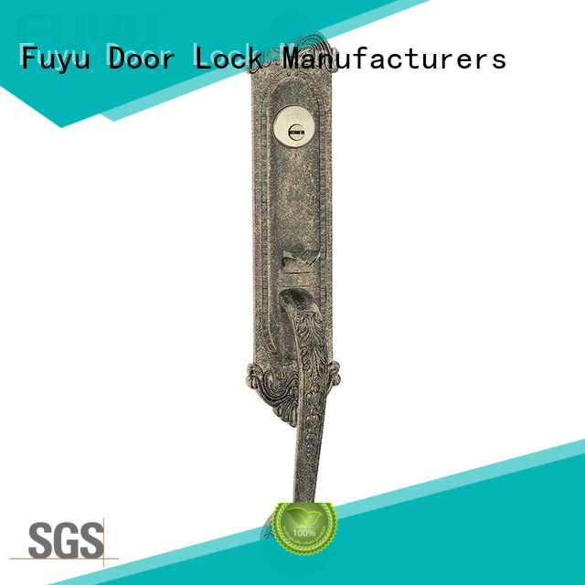 polished full mortise lock handle on sale for shop