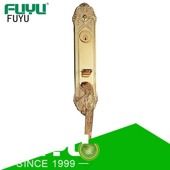 durable door handle lock steel with latch for shop