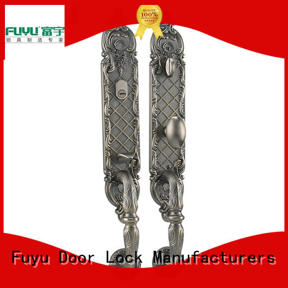FUYU quality door lock design with latch for mall
