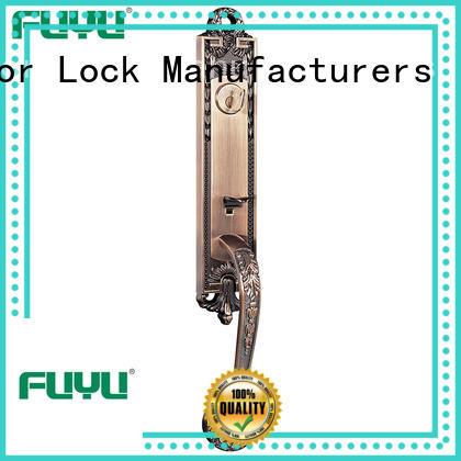 durable zinc alloy door lock for wood door material with latch for shop