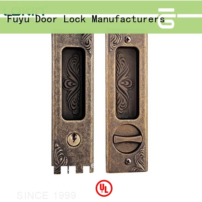 FUYU alloy zinc alloy door lock for timber door with latch for mall