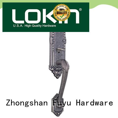 FUYU steel zinc alloy mortise door lock with latch for indoor