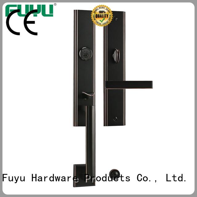 durable brass bathroom door handles with lock lever on sale for shop