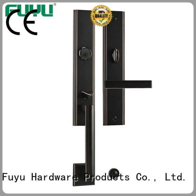 durable brass bathroom door handles with lock lever on sale for shop