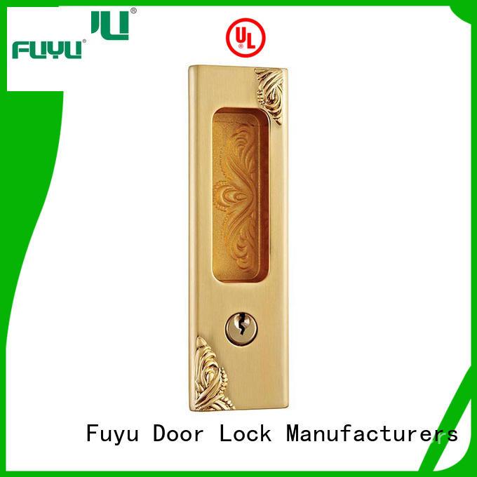FUYU exterior sliding door safety lock supplier for shop