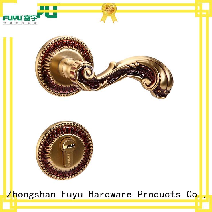 FUYU gold door handles for sale for toilet
