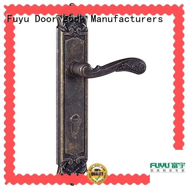 FUYU durable zinc alloy mortise door lock with latch for mall