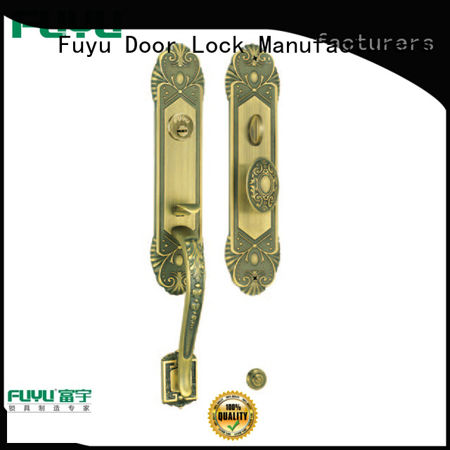 durable brass bathroom door handles with lock style with latch for shop