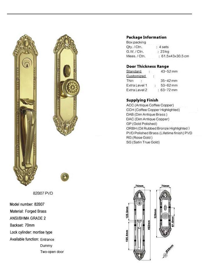 durable brass door lock dubai with latch for shop-1