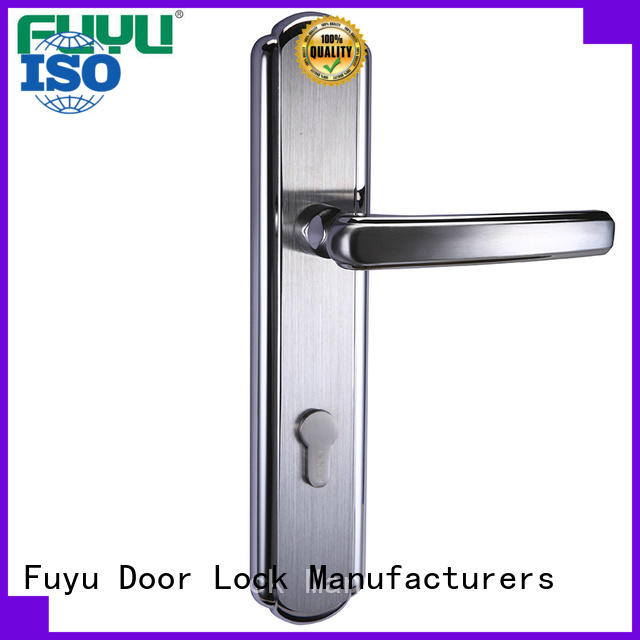 FUYU online customized stainless steel door lock with international standard for mall