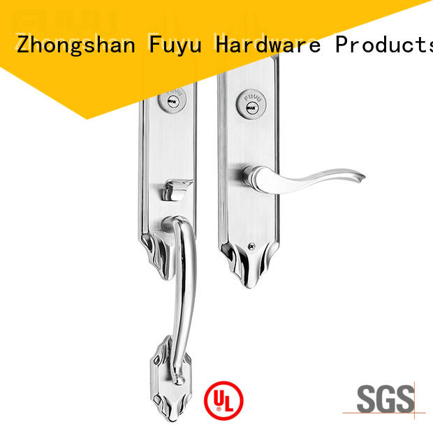 FUYU stronge stainless steel sliding door lock steel for home