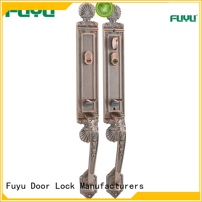 quality zinc alloy lock mechanism with latch for entry door
