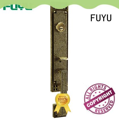 FUYU big zinc alloy door lock with latch for indoor