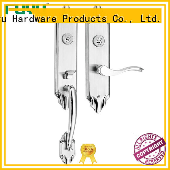 Sus 304 double side entrance door handle lock for two open door
