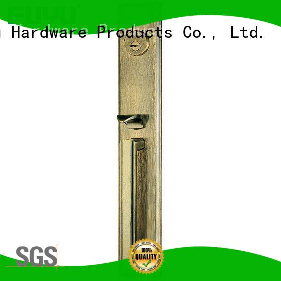 FUYU grip handle door lock supplier for wooden door